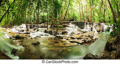 The sixth level of Huai Mae Kamin Waterfall in...