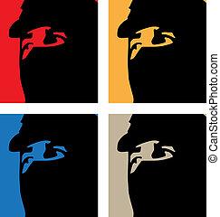 guerrilero - artistic pop art portrait of a guerrilero