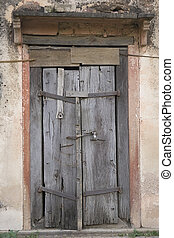 The Old wooden Door, Background - The Old wooden Cracked...