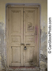 The Old wooden Door, Background - The Old wooden Door with...