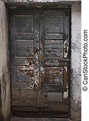 The Old wooden Door, Background - The Old wooden Door with...