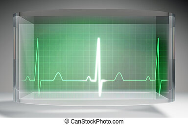 futuristic EKG medical liquid crystal display - The...