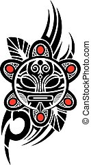 Taino Sun Tribal Vector illustratio
