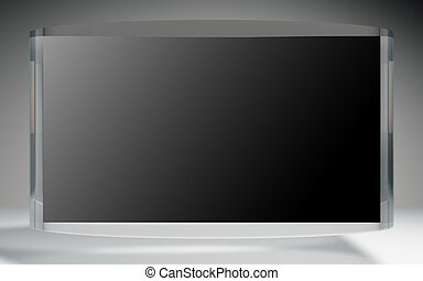 futuristic liquid crystal display black reflection - The...