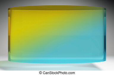 futuristic liquid crystal display blue yellow - The...