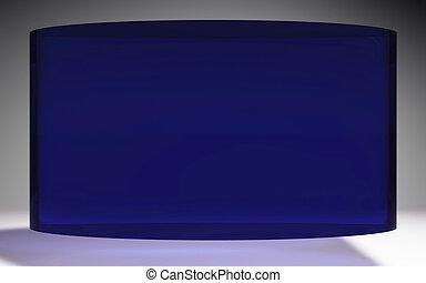 futuristic liquid crystal display panel blue - The...