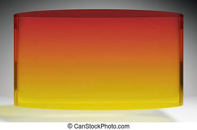 futuristic liquid crystal display panel orange - The...
