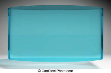 futuristic liquid crystal display panel sea blue - The...