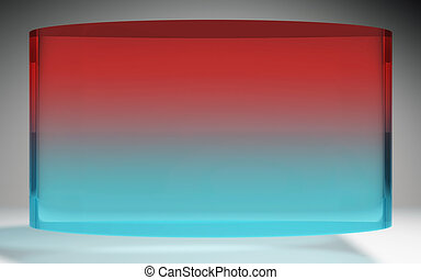 futuristic liquid crystal display red blue - The futuristic...
