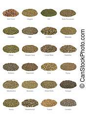 Herb Collection - Large collection of dried herbs, with...