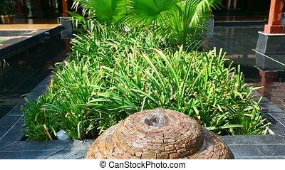 Decorative stone fountain - Decorative fountain at the...