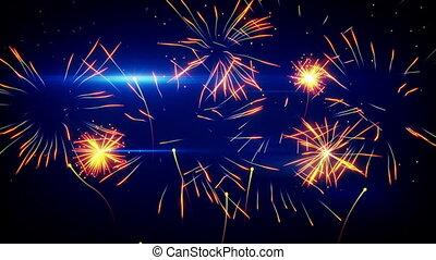 stylized fireworks seamless loop - stylized fireworks...