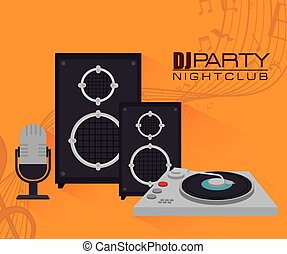 Music dj party theme