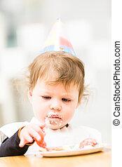 Birthday party - Toddler girl celebrating her second...