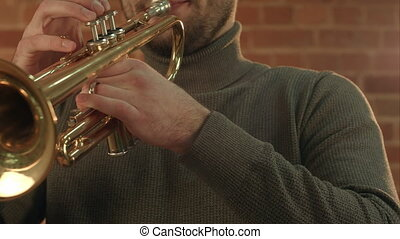 Man Playing trumpet.