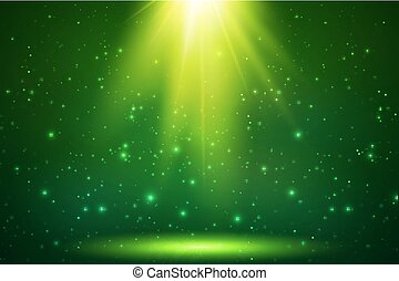 Green magic top light vector background - Green magic top...