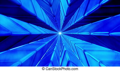 Broadcast Endless Hi-Tech Tunnel, Blue, Abstract, HD - Thank...