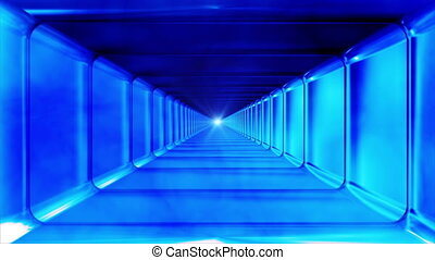 Broadcast Endless Hi-Tech Tunnel, Blue, Rectangle, HD -...