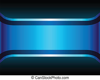 Blue Neon Background with Copyspace.