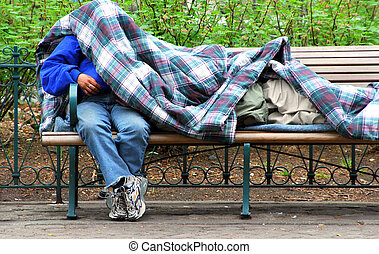 Homeless and unemployed in america.