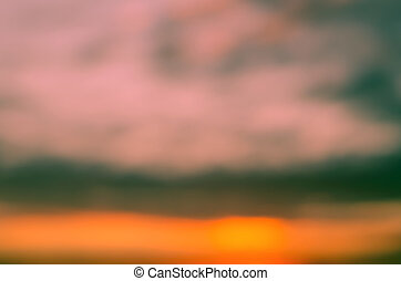 Colorful sunset sky, abstract blurred background
