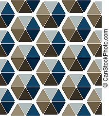 Seamless pattern design with abstract hexagons
