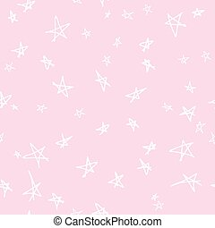 Seamless pattern design with sketchy stars