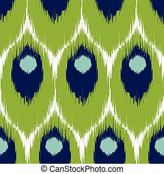 Ikat seamless pattern - Vector ikat seamless pattern,...
