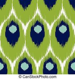 Ikat seamless pattern - Vector ikat seamless pattern,...