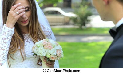 A beautiful bride and bridegroom HD