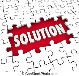 Solution Puzzle Pieces Finishing Job Solve Challenge
