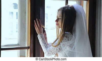 Young just married the girl at the window HD