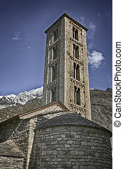 Tower and apse of the church of Santa Eulalia de...