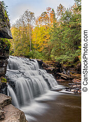 Autumn Canyon Falls - Whitewater cascades over rocky ledges...