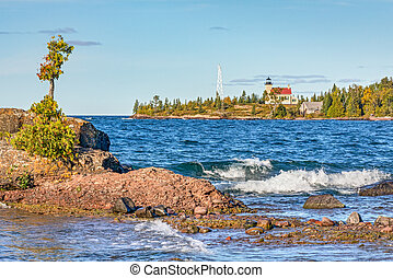 Copper Harbor Lighthouse - The Copper Harbor Light is a...