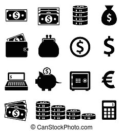 Money, banking and finance icons