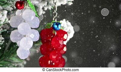 bunch of berries christmas tree