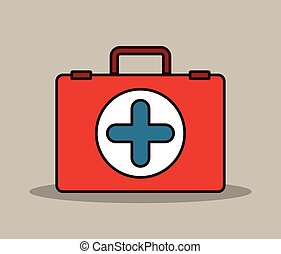 medical kit design - medical kit design, vector illustration...