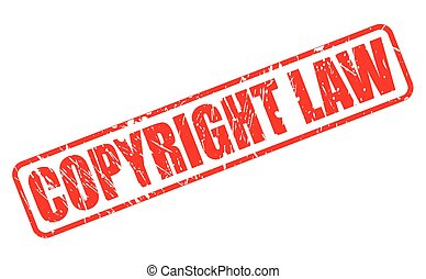 COPYRIGHT LAW red stamp text on white