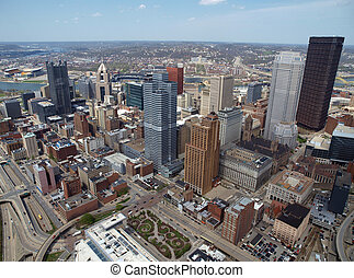 Downtown Pittsburgh Aerial - Downtown Pittsburgh...