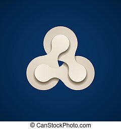 teamwork infinity chain paper emblem - illustration for the...