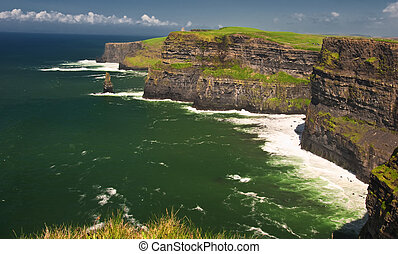 famous irish cliffs on the west coast ireland - photo of...