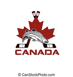 symbols of Canada vector design template