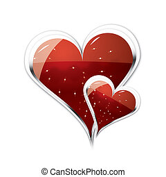 Couple of Hearts illustration - Two big strong hearts...
