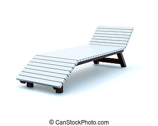 Chaise longue isolated on white