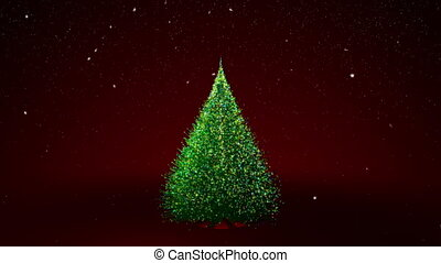 Christmas tree with Christmas text - Christmas tree with...