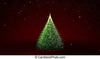 Christmas tree with Christmas text
