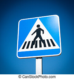 Crosswalk Sign - Pedestrian Crosswalk traffic road sign
