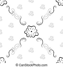 Seamless background from ornate ornament