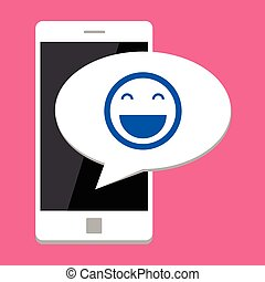 Mobile phone with smile